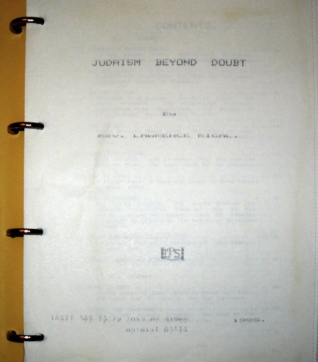 Judaism Beyond Doubt - Title Page